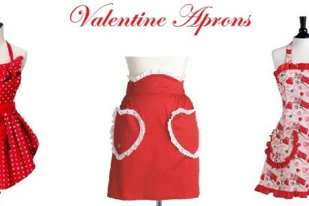 Beautiful Valentines Day Aprons