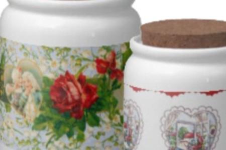 Valentine Candy Jars: Vintage Designs