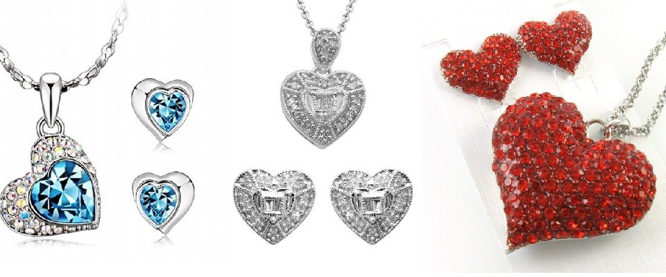 Have (or Give) a Heart — or Three — with Matching Jewelry Sets