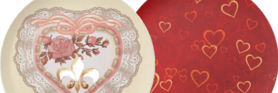 Romantic Valentine Dinner Plates