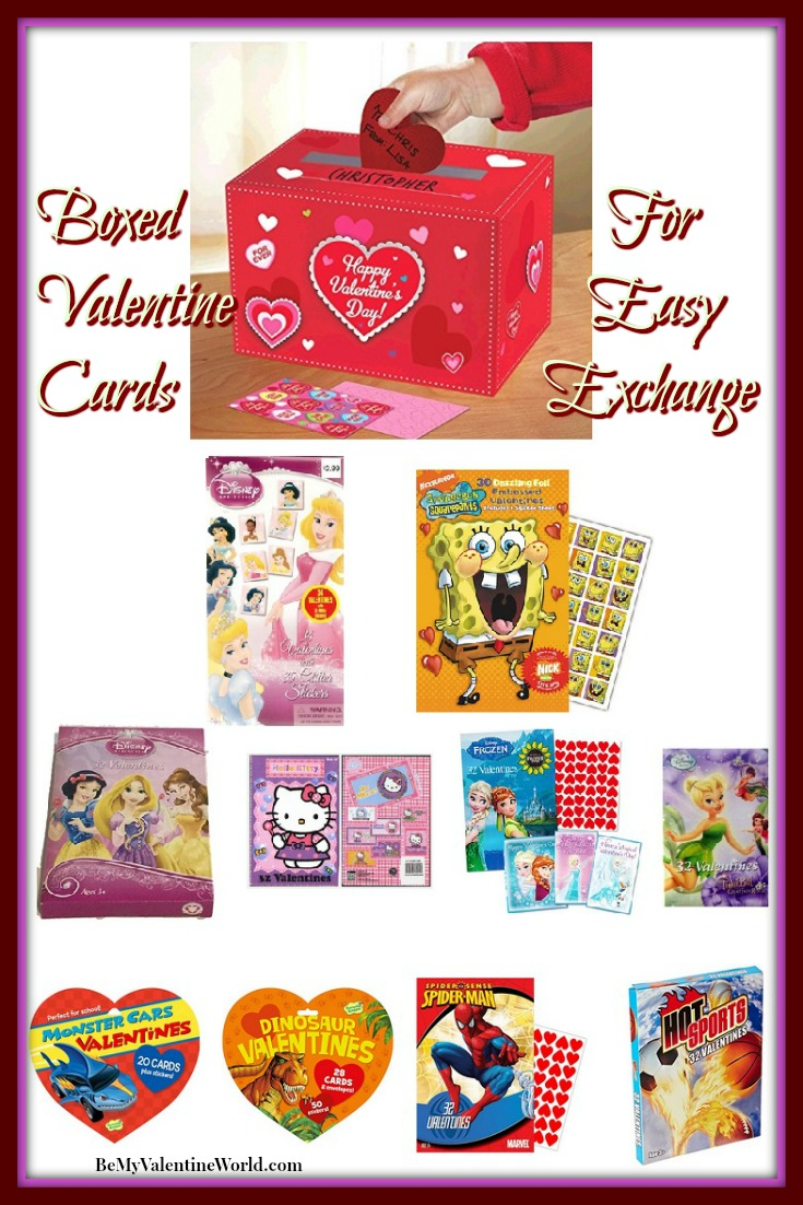 Valentine S Day Boxed Cards For Kids To Exchange Be My Valentine World