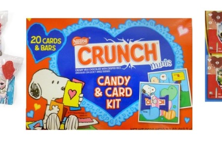 Valentine's Day Cards with Candy for Classroom Exchange
