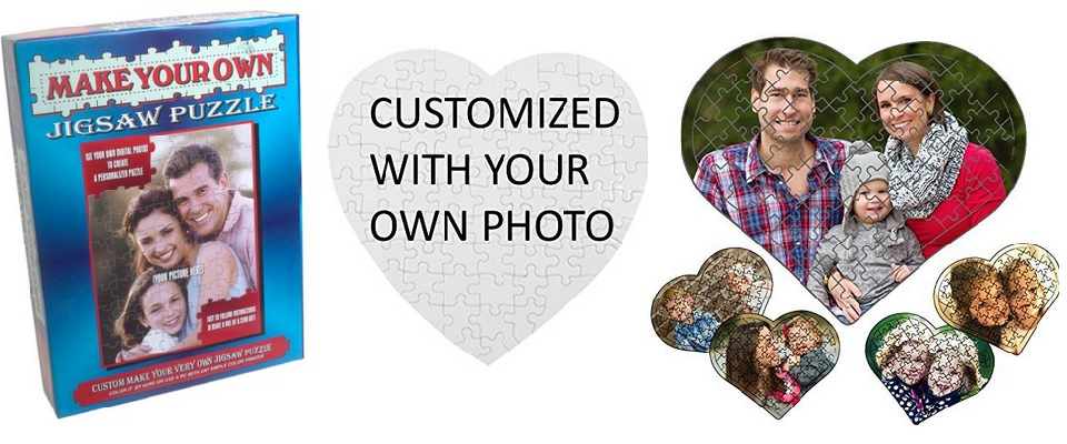 Custom Puzzles for Photos or Special Messages