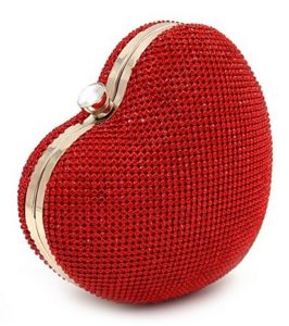 Heart Shaped Evening Handbag bag